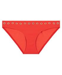 Majestic coral eyelet bikini briefs
