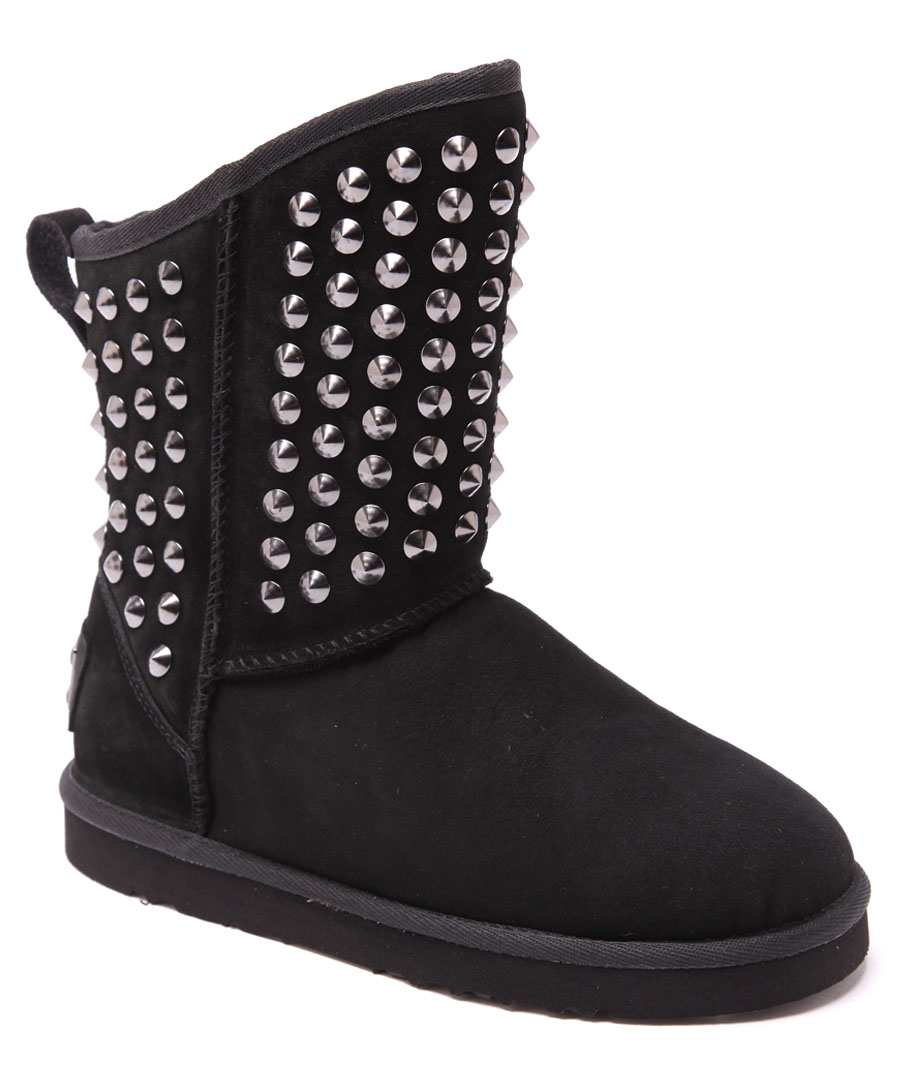 Pistol black studded suede boots Sale - Australia Luxe