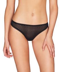Roman Crush black lace thong