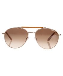 Colin rose gold-tone frame sunglasses
