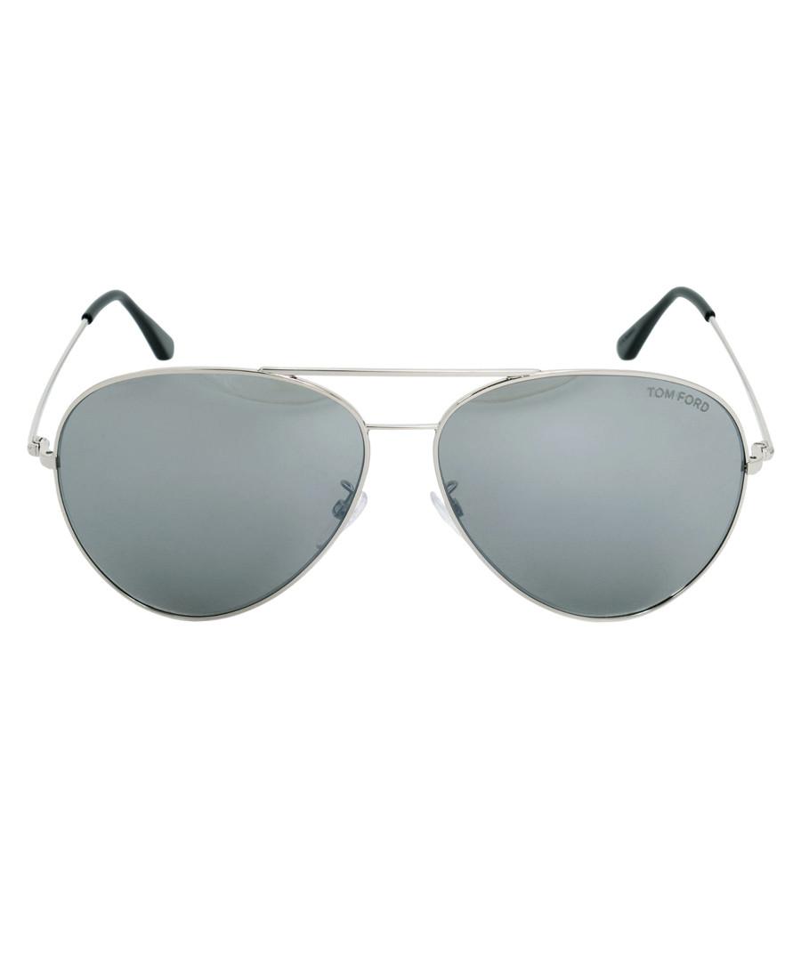 Silver-tone & grey lens sunglasses Sale - tom ford