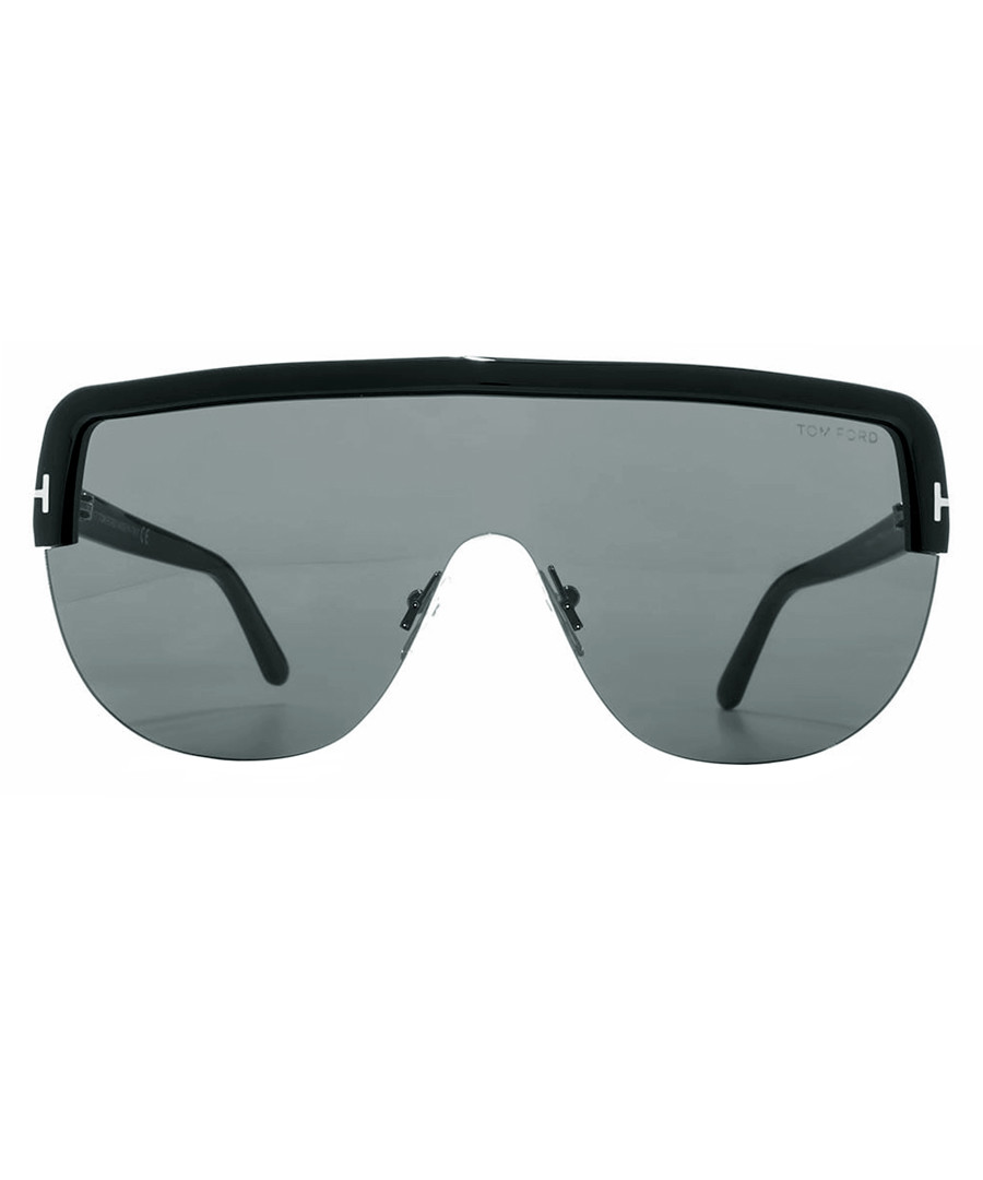 Angus black visor sunglasses Sale - tom ford