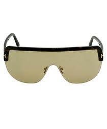 Angus tortoiseshell visor sunglasses