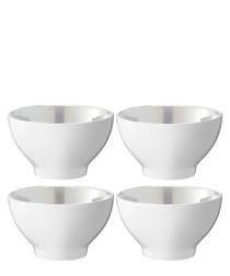4pc Pearl white porcelain bowls