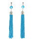 Turquoise beaded tassel earrings Sale - fig & molly Sale