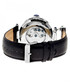 Ganzi black & silver-tone leather watch Sale - heritor automatic Sale