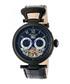 Ganzi black leather watch Sale - heritor automatic Sale