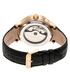 Leopold black & gold-tone leather watch Sale - heritor automatic Sale