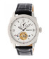 Helmsley black & white leather watch Sale - heritor automatic Sale