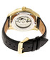 Stanley black & gold-tone leather watch Sale - heritor automatic Sale