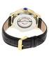 Prescott black & gold-tone leather watch Sale - heritor automatic Sale