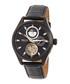 Sebastian black leather exposed watch Sale - heritor automatic Sale