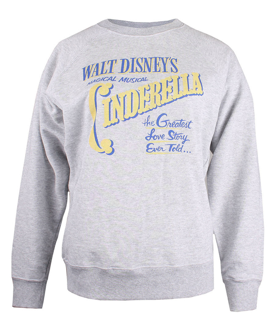 Women's Cinderella heather grey jumper Sale - Disney