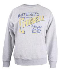 Cinderella grey cotton blend jumper
