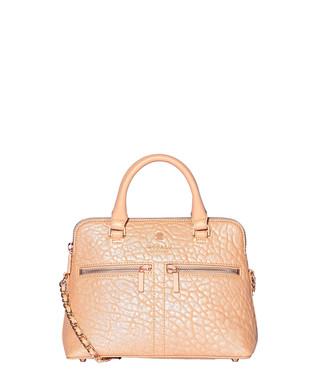 3a36d6c9c9 Modalu. Pippa Chained peach leather grab bag