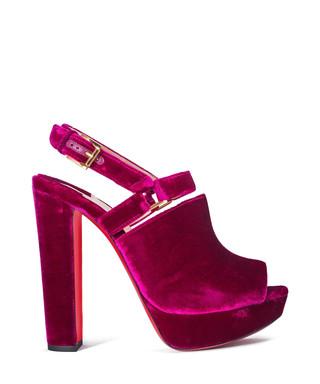 16e5c92b0beb Christian Louboutin. Tamila pink velvet block heels