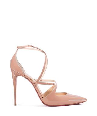 a9a7aa93e61b Christian Louboutin. Light pink patent criss-cross heels