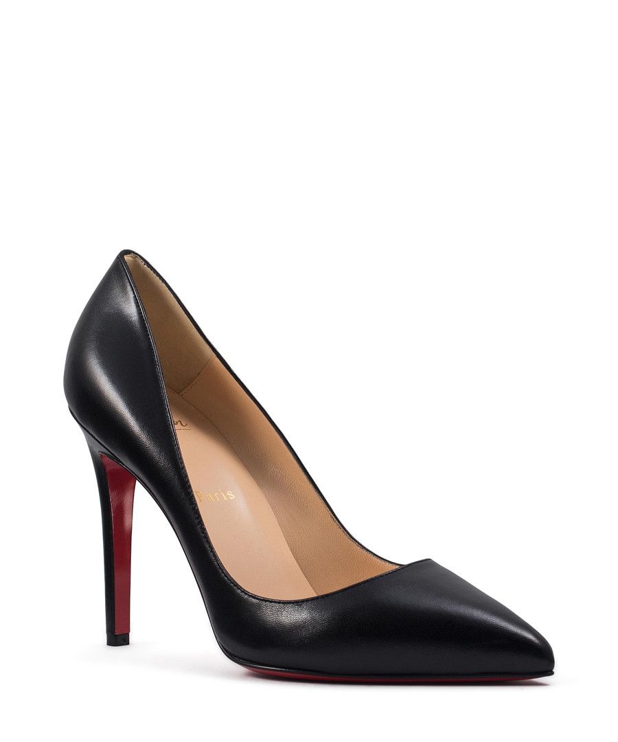 Pigalle black leather court heels Sale - CHRISTIAN LOUBOUTIN