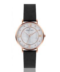 Liskamm black steel mesh watch