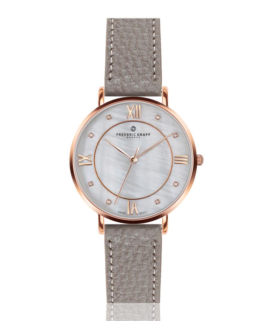 Liskamm grey leather watch Sale - frederic graff