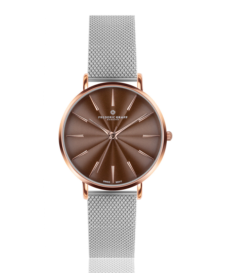 Monte rose gold-tone mesh watch Sale - frederic graff