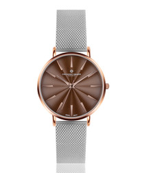 Monte rose gold-tone mesh watch