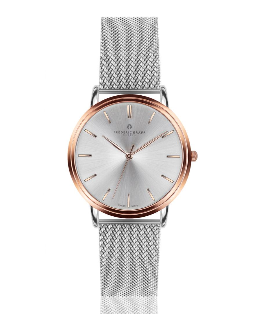 Breithorn silver-tone mesh steel watch Sale - frederic graff