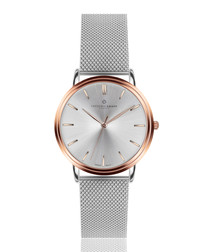 Breithorn silver-tone mesh steel watch