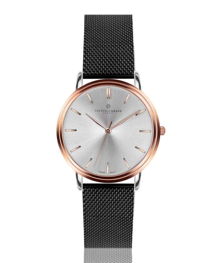 Breithorn black mesh steel watch Sale - frederic graff