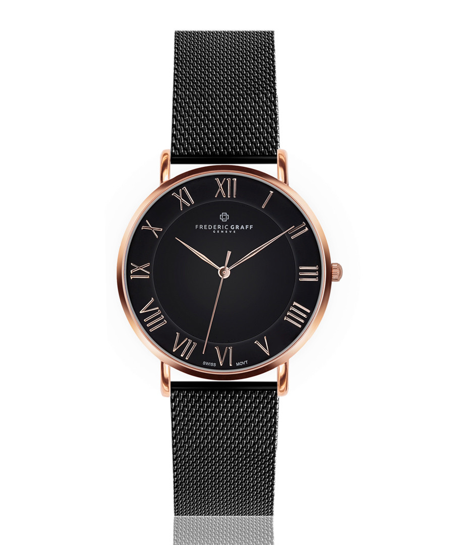 Dom black steel mesh watch Sale - frederic graff