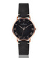 Dom rose gold-tone & black leather watch Sale - frederic graff Sale