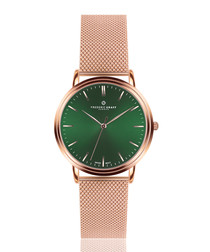 Grunhorn rose gold-tone mesh watch