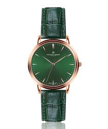 Grunhorn d.green leather moc-croc watch