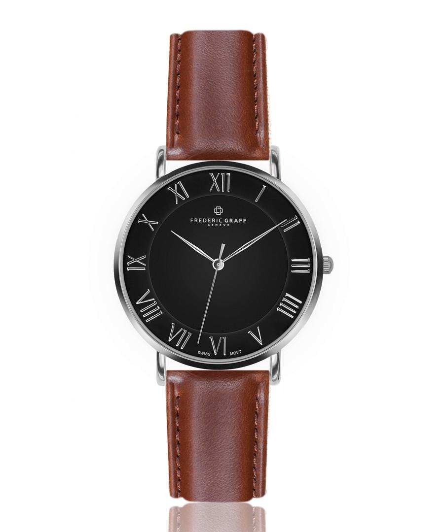 Dom cognac leather watch Sale - frederic graff
