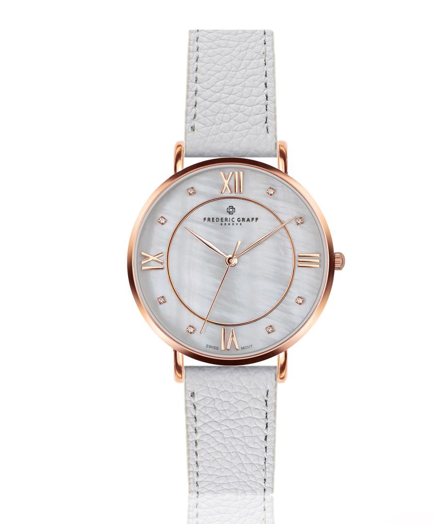 Liskamm white leather watch Sale - frederic graff
