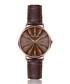 Monte brown leather moc-croc watch Sale - frederic graff Sale
