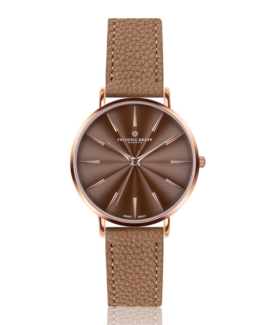 Monte cognac leather watch Sale - frederic graff