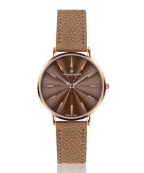Monte cognac leather watch