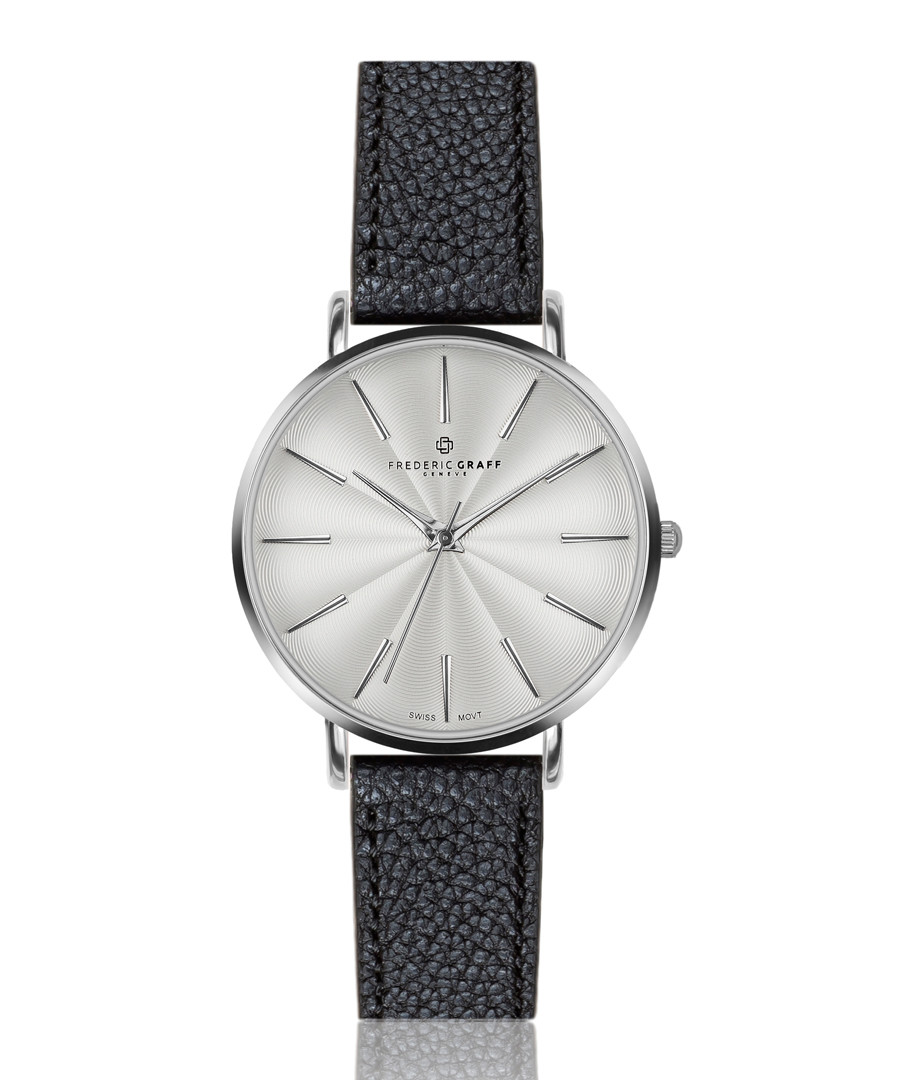 Monte black leather watch Sale - frederic graff