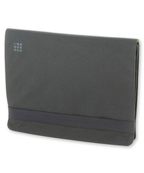"Grey & green laptop sleeve 13"""