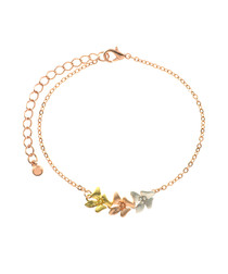Tri-Colour 14ct gold-plated bracelet