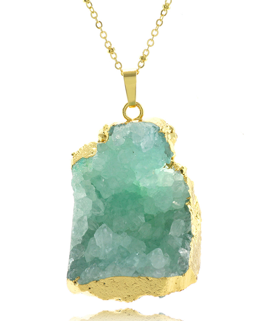 Gold-tone & light blue necklace Sale - fleur envy gaia