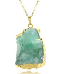 Gold-tone & light blue necklace