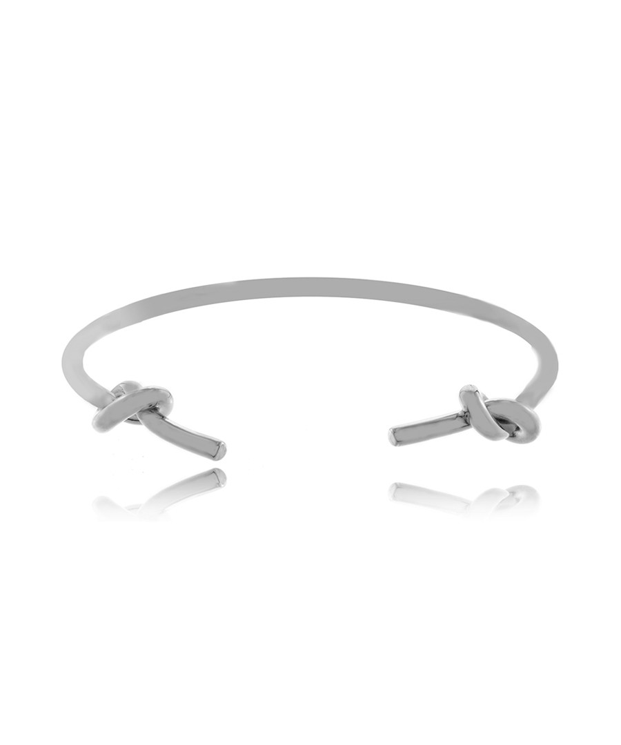 Double Knots rhodium-plated bracelet Sale - fleur envy