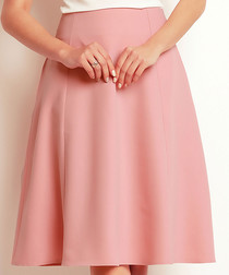 Powder Pink flared knee-length skirt