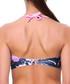 Fernanda black floral bikini top Sale - fleur farfala Sale