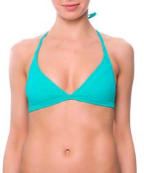 Maribel turquoise triangle bikini top