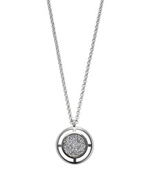 Charida silver-tone crystal necklace