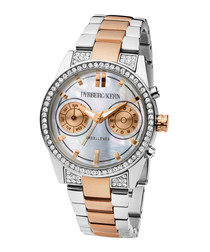 Excellence rose gold-tone steel watch