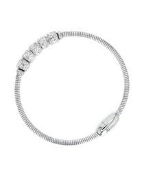 Rhodium-plated crystal bracelet